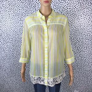 Anthro || Edme & Esyllte NWT yellow blouse SMALL